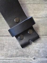 Gürtel Wechselgürtel Ledergürtel schwarz Rindsleder Konfektionsgröße 105 - MONDSPINNE