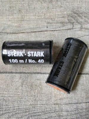 Jeansgarn Ledergarn schwarz 100m Stärke 40 Polyester Goldmann - MONDSPINNE
