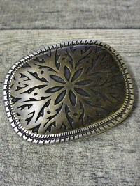 Buckle Metallschließe kupfer Metall floral 30 mm - MONDSPINNE