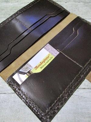 Kreditkartenetui Geldscheinetui Bente 20x10 cm Magnetverschluss Kalbsleder Rindsleder dunkelbraun - MONDSPINNE