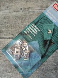 Bundverschluss verstellbar 4 mm 4 Stück silber Metall Prym - MONDSPINNE
