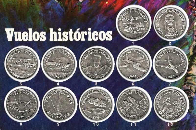 Medallas conmemorativas 'Vuelos Históricos'  1970