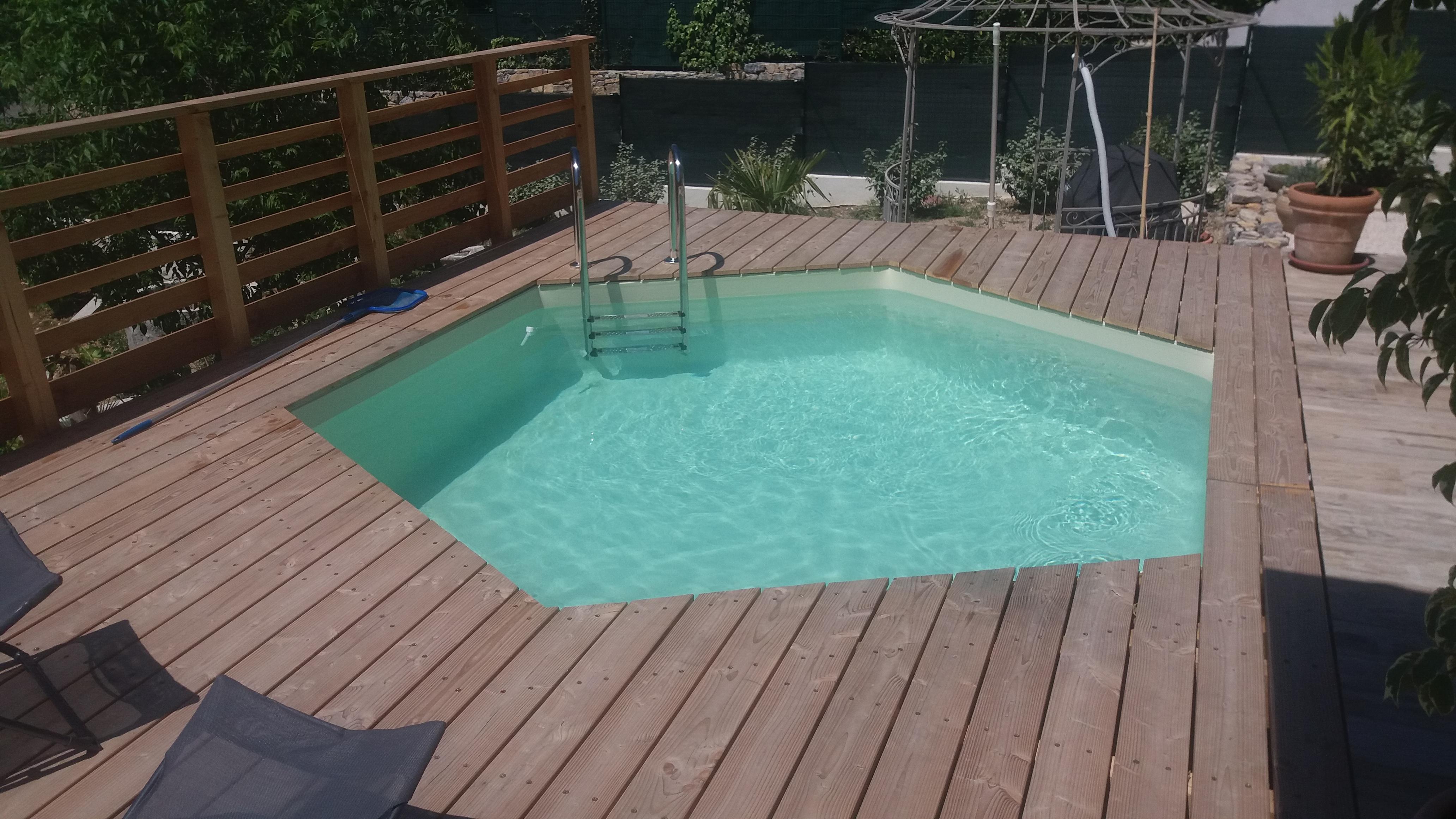 terrasse en bois avec piscine prix