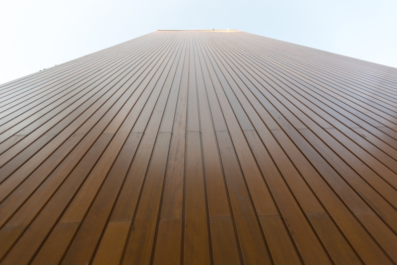 bardage de facade en bois lequel