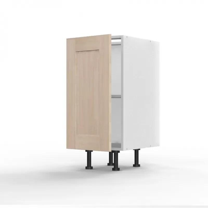 mon espace maison meuble bas cuisine chene massif brut largeur 40cm