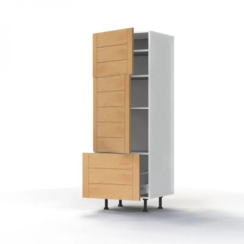 mon espace maison meuble colonne cuisine chene massif verni largeur 60cm