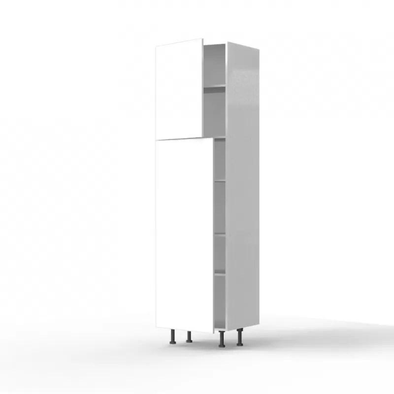 mon espace maison meuble colonne cuisine blanc brillant largeur 60cm