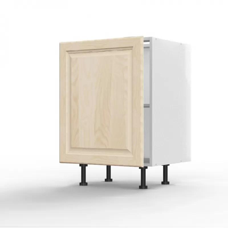 mon espace maison meuble bas cuisine sous evier pin massif brut largeur 60cm