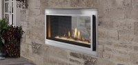 Mezzanine See-Through Gas Outdoor Fireplace