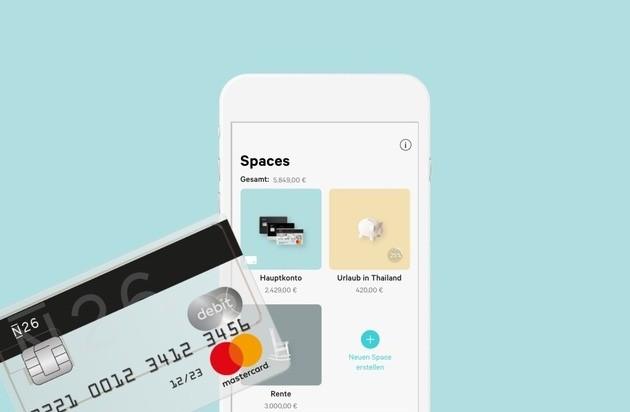 Neue N26 Funktion Spaces bietet Kunden maximale Flexibilität