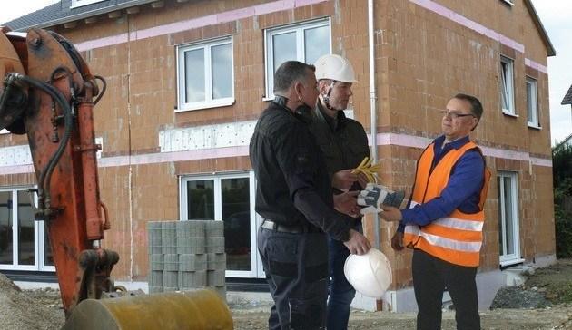 Private Bauherren - Helfer auf der privaten Baustelle absichern