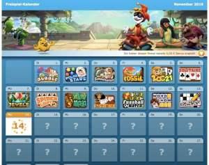 Der Freispiel-Kalender, jeden Tag ein neues Gratis-Spiel