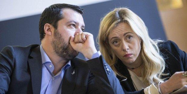 Salvini Ora Teme La Meloni E Sul Coronavirus Torna In