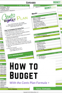 Cents Plan Download. How to budget. Printable. Monthly basis. How to budget your money.