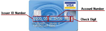 visa card number