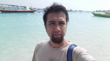 Me again, by the beach of Gili Trawangan, Lombok, Indonesia