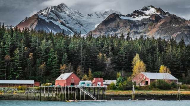Alaska Cannery Located Bay Pacific Ocean Haines