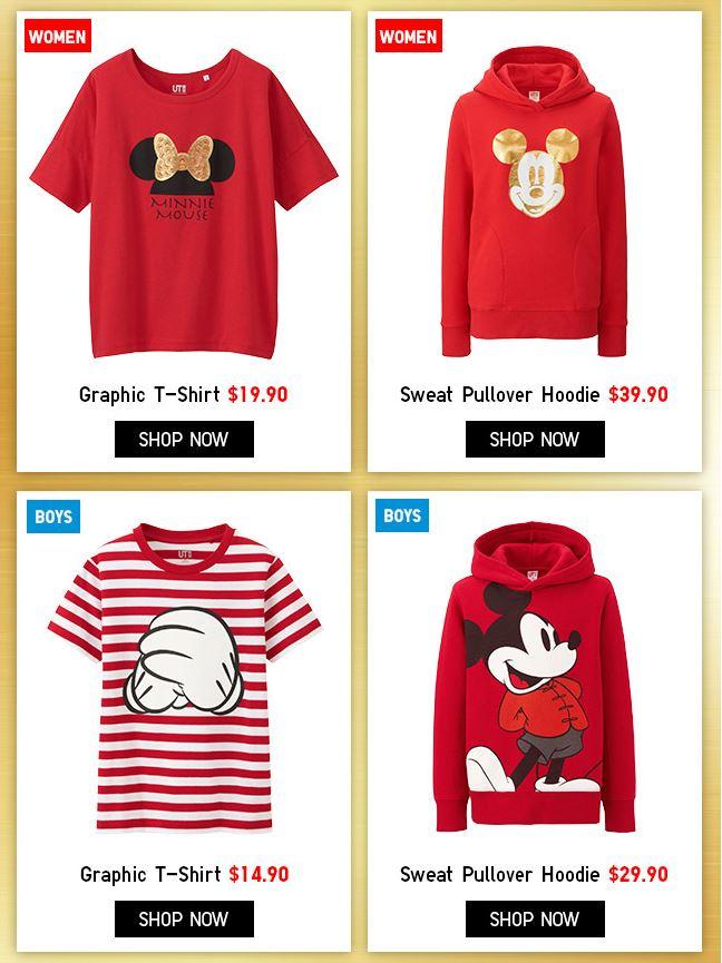 Uniqlo Mickey  Minnie Chinese New Year UT Graphics T