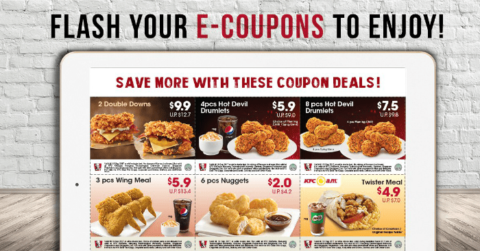 NEW KFC E-Coupons for use from 18 Aug - 24 Sep 17. Flash them to enjoy! | MoneyDigest.sg