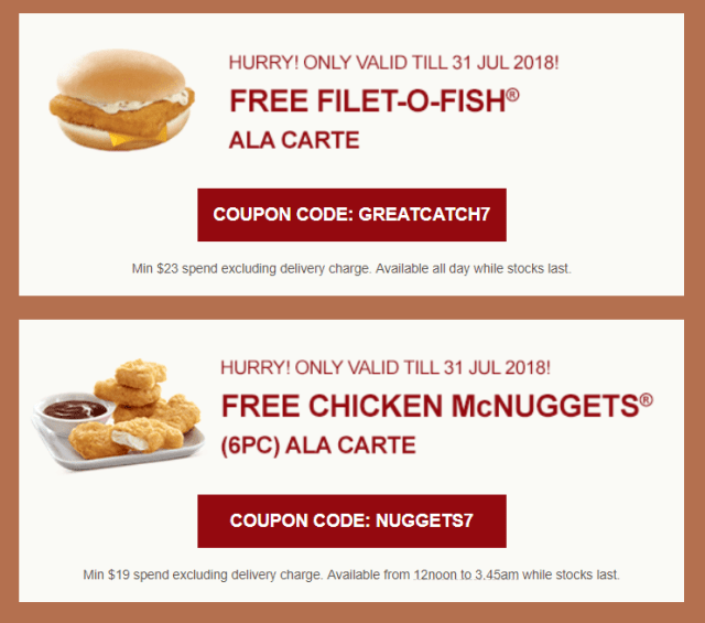 These mcdeliverys promo codes get you free filet o fish and chicken share these promo codes with your friends and loved ones fandeluxe Image collections