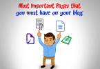 Most important pages for blog