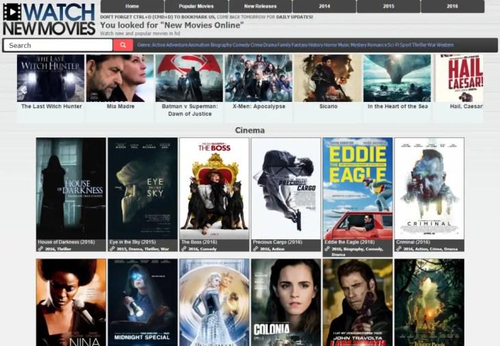 Watch New Movies Free Movie Streaming website list
