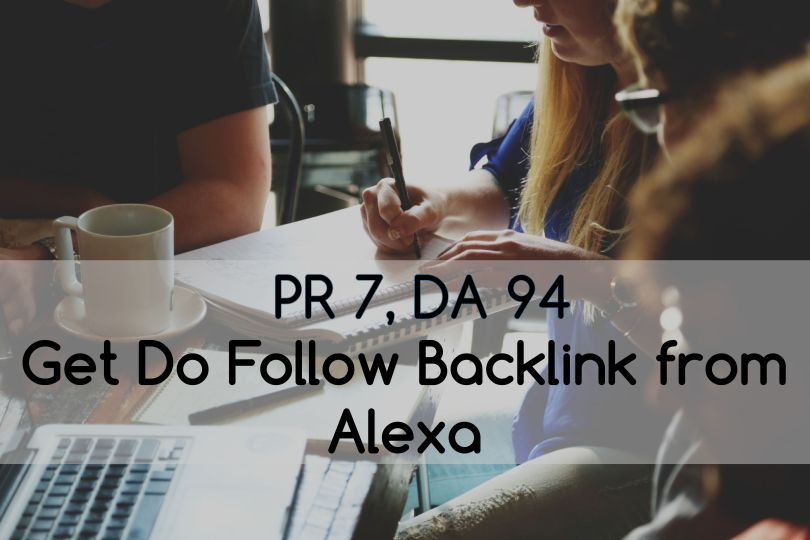 Dofollow backlinks from Alexa