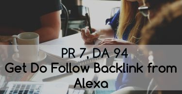 Dofollow backlinks from Alexa