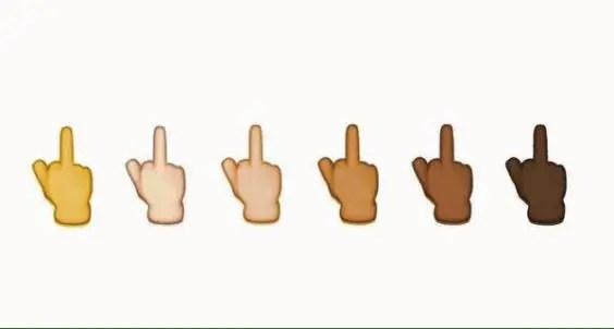 iOS 9 Middle Finger Emoji