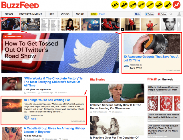 native ad example buzzfeed