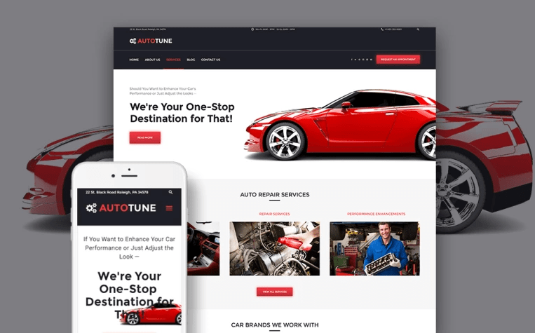 AutoTune Car WordPress Theme