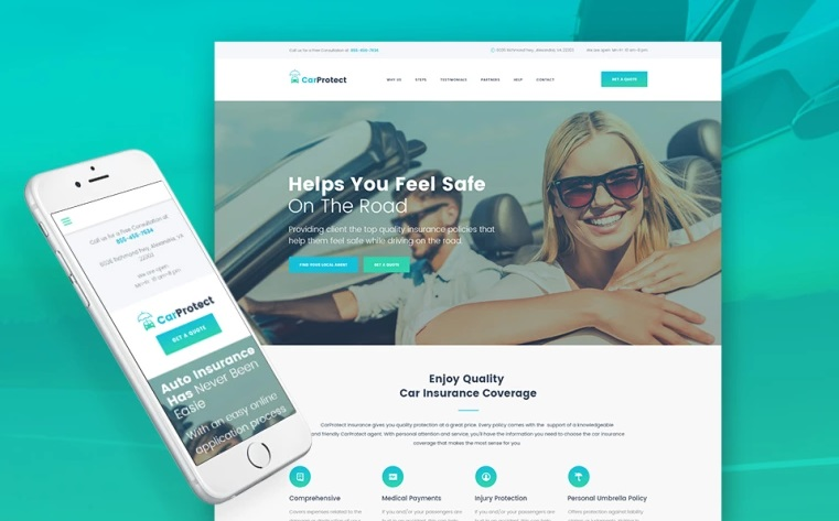 Car Protect WordPress theme