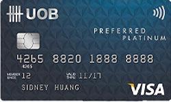 Image result for uob preferred platinum visa