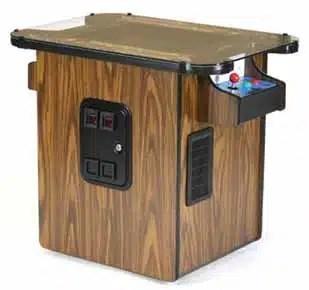 60 in 1 Multicade Arcade Game Machine Cocktail Sit Down Wood Grain Finish | moneymachines.com