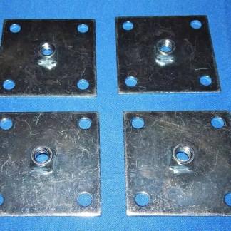 Set of 4 Heavy Duty Leg Leveler Mounting Plates   moneymachines.com