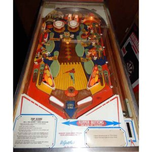 Used Gottlieb Top Score Mechanical Pinball Machine Play Field | moneymachines.com