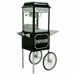 Black Paragon 1911 8 Ounce Popcorn Machine and Antique Cart Combo | moneymachines.com