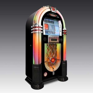 Black Rock-Ola Bubbler Digital Jukebox | moneymachines.com