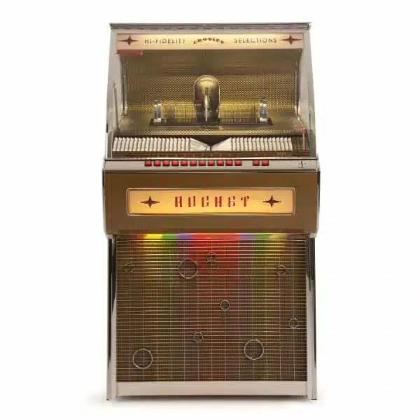Crosley CR1207A-OA Rocket 80 CD Bluetooth Full-Size Jukebox   moneymachines.com