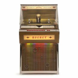 Crosley CR1207A-OA Rocket 80 CD Bluetooth Full-Size Jukebox | moneymachines.com