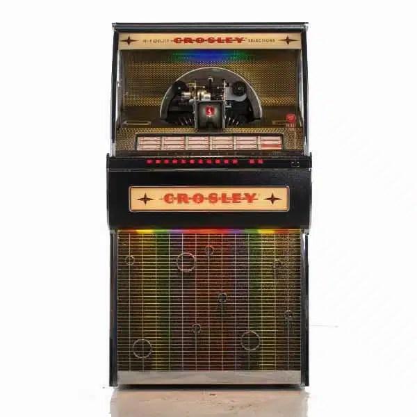Crosley CR1210A-BK Rocket 45 Vinyl Jukebox | moneymachines.com