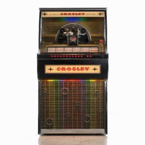 Crosley CR1210A-BK Rocket 45 Vinyl Jukebox | moneymachines.com
