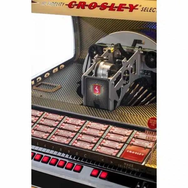 Crosley CR1210A-BK Rocket 45 Vinyl Jukebox Record Player | moneymachines.com