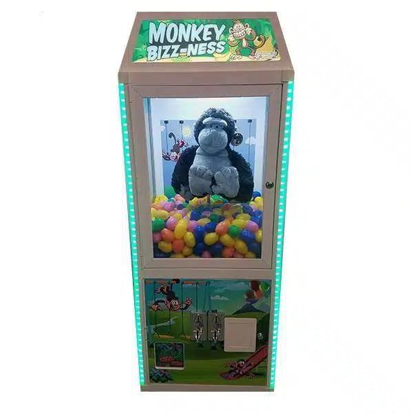 Monkey Bizz-ness Prize Vendor Front | moneymachines.com