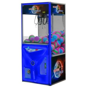Neon World - Changing Color Lighted Neon Door Crane Game Machine   moneymachines.com