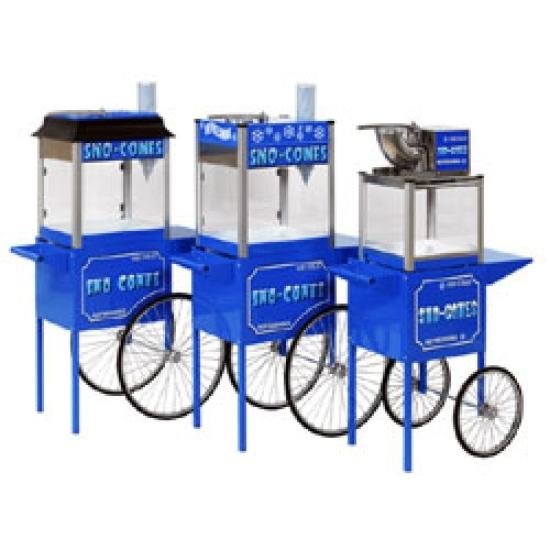 Paragon Snow Cone Machines on cart | moneymachines.com