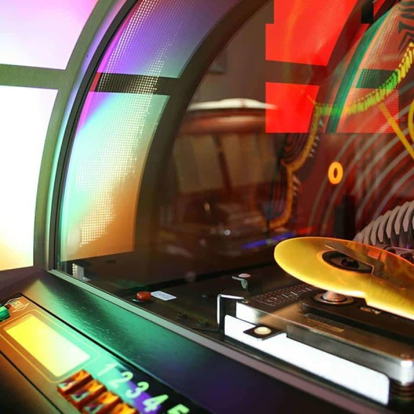 Rock-Ola Bubbler CD Jukebox Window