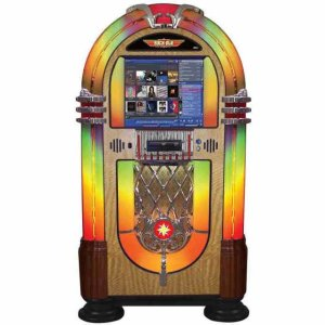 Rock-Ola Bubbler Digital Jukebox Walnut | moneymachines.com