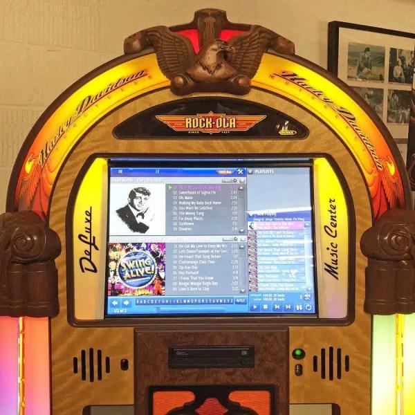 Rock-Ola Music Center Harley Jukebox Top | moneymachines.com