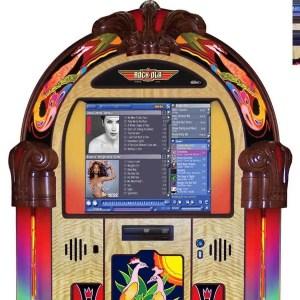 Rock-Ola Peacock Jukebox Top   moneymachines.com